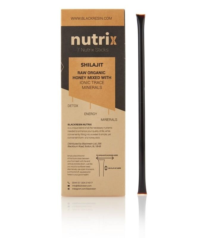 Nutrix - X 7 Sticks   100% Raw Organic Honey, mixed with Pure Shilajit Resin (Copy)