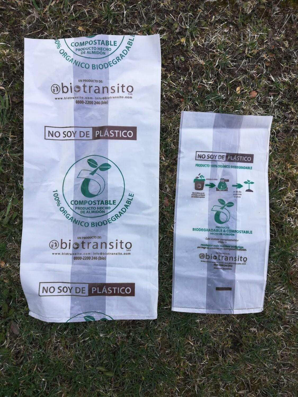 Bolsas biodegradables compostables, línea hogar