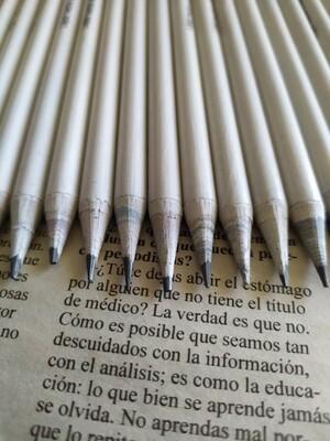 Lápices de papel reciclado