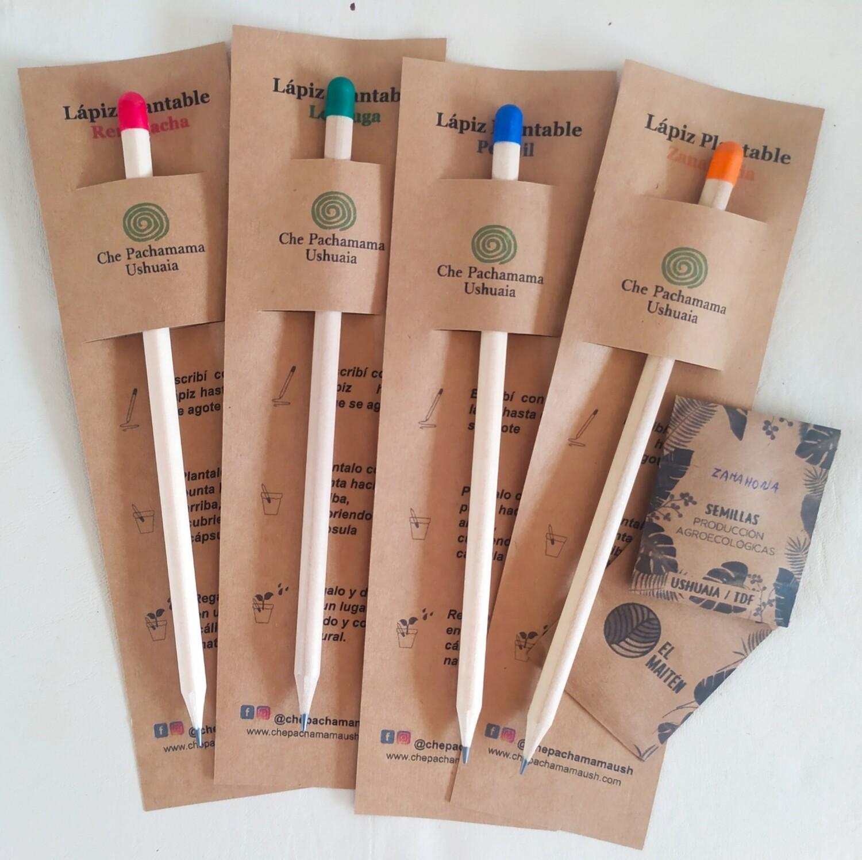 Lápices plantables de madera