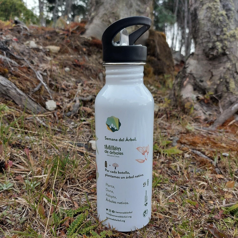 Botella Reutilizable de Acero Inoxidable. Semana del árbol