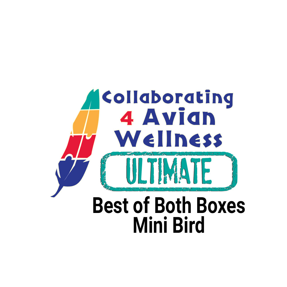 Thrive! Ultimate Diversity Box (Dry & Fresh) — Mini Birds (4 Finches, Canaries, Cockatiels, Budgies, Parrotlets, Love Birds, Conures, etc)