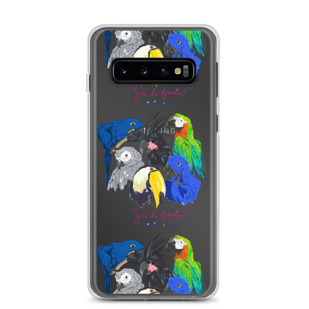 """See Da Birds"" Selfie featuring the Parrotsrus Flock Samsung Case"