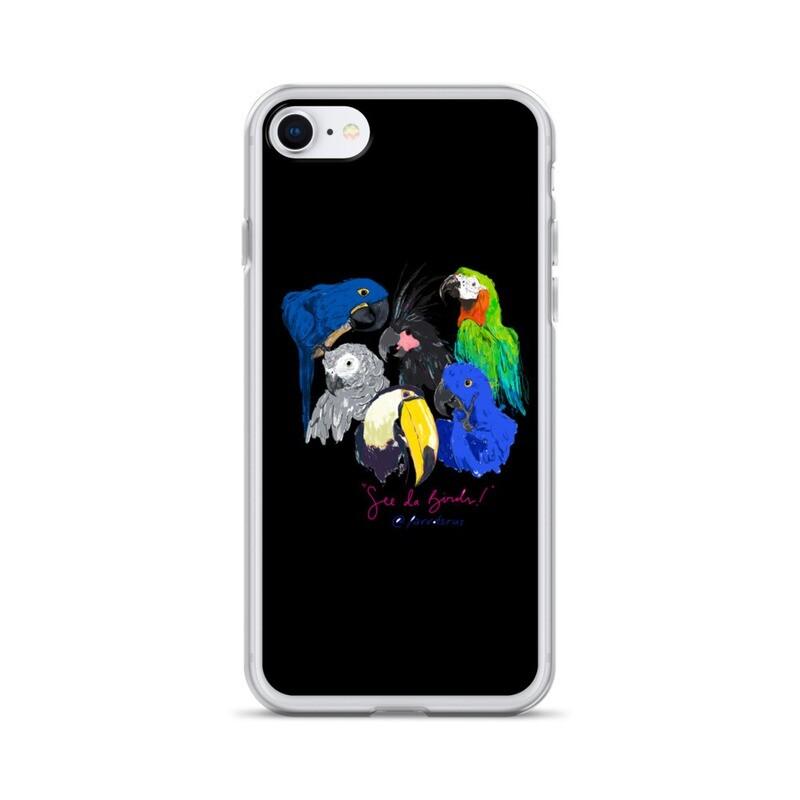 """See Da Birds!"" Selfie Feature The Parrotsrus flock iPhone Case"