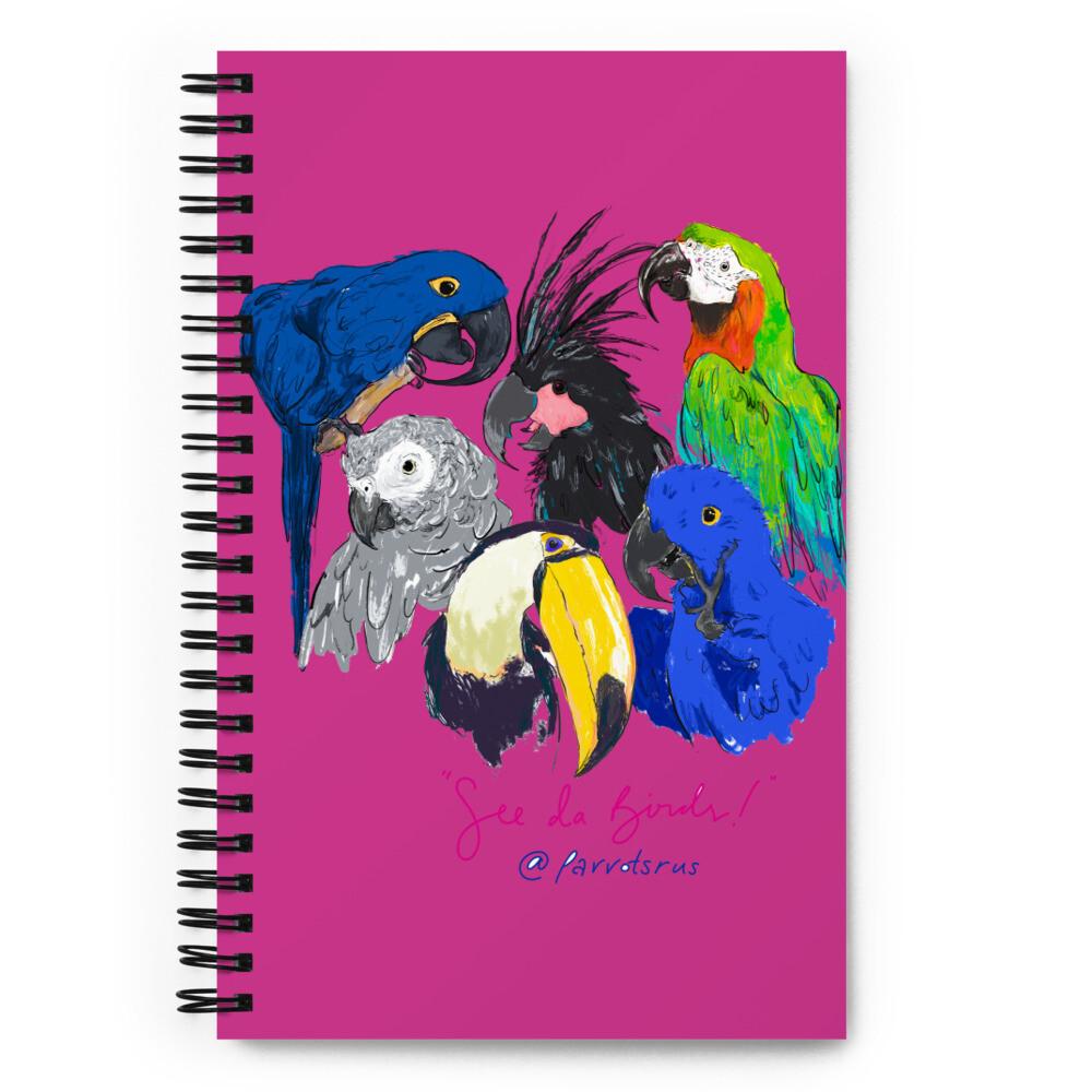 """See Da Birds"" Selfie featuring the Parrotsrus Flock Spiral notebook"