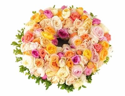 Sympathy Wreath Pastel