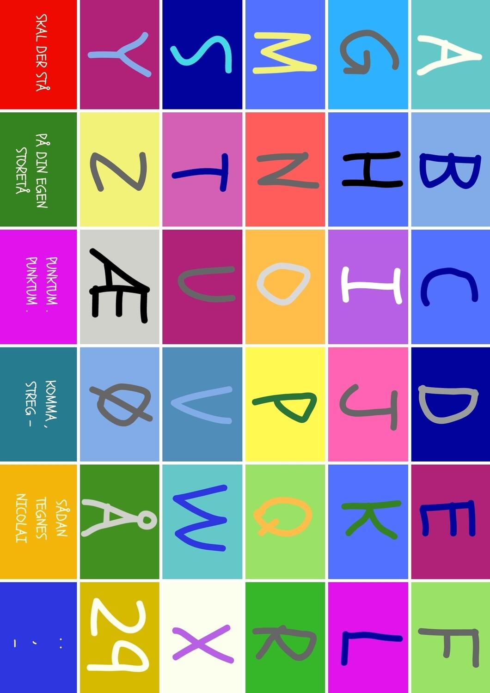 Alfabet - Det danske alfabet (Print selv)