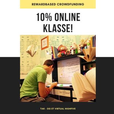 Støt med 10% af Online Klasse - én elev - én måned