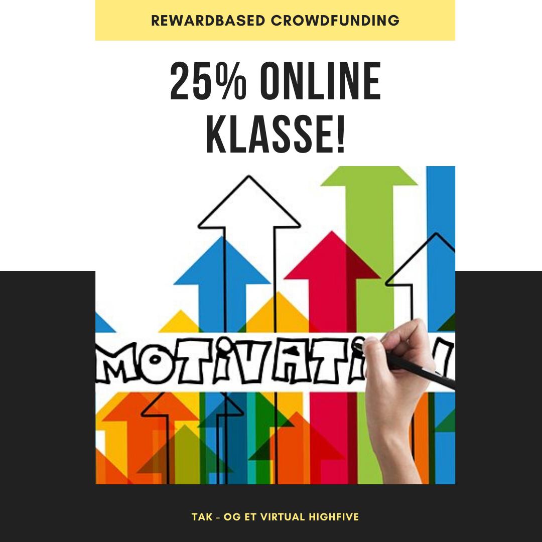 Støt med 25% af Online Klasse - én elev - én måned