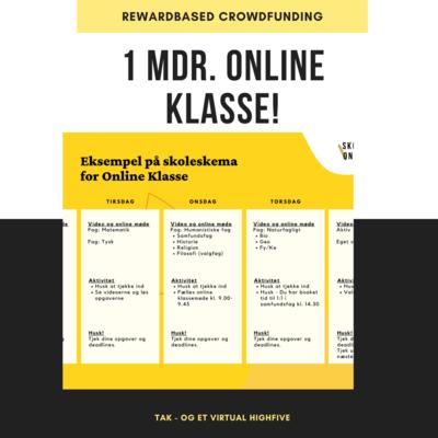 1 måned Online Klasse undervisning til én elev