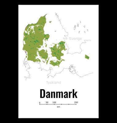 Kort over Danmark (Print selv)