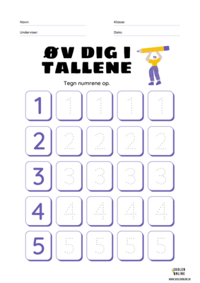 Øv dig i tallene 0-9