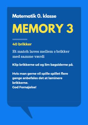 Memory 3 - vendespil