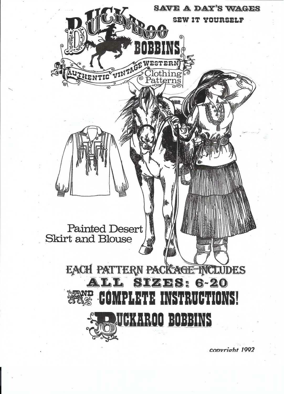 Painted Desert Skirt and Blouse