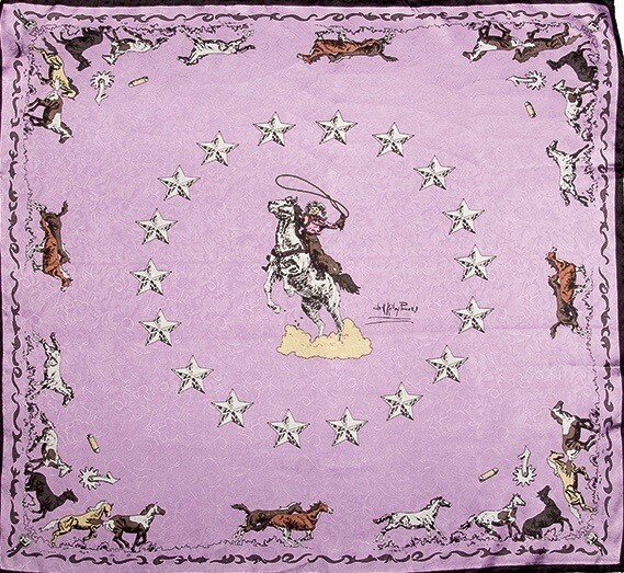 Pink Mustang Limited Edition Silk Scarf