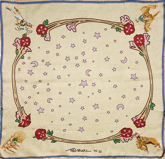 Ivory Rodeo Girls Limited Edition Silk Scarf
