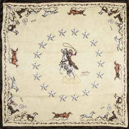 Ivory Mustang Limited Edition Silk Scarf