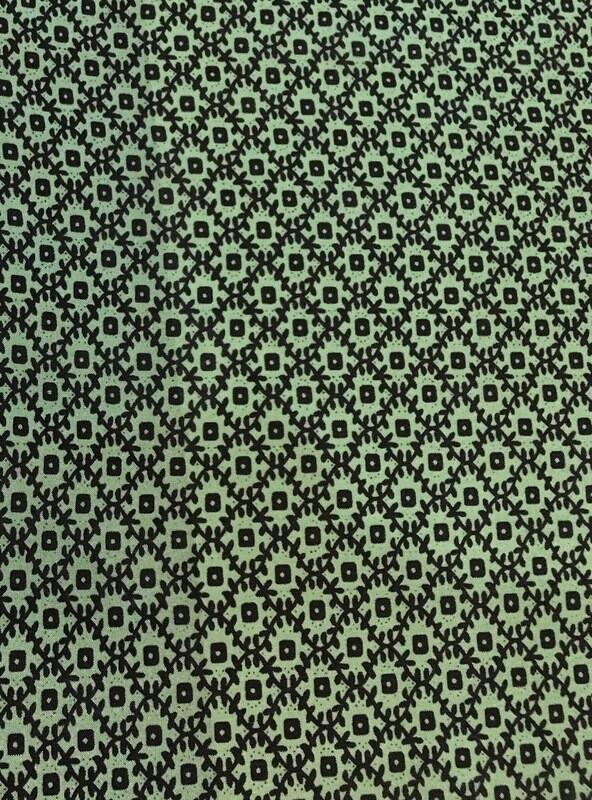 Green #3 Frontier Calico Silk Scarf