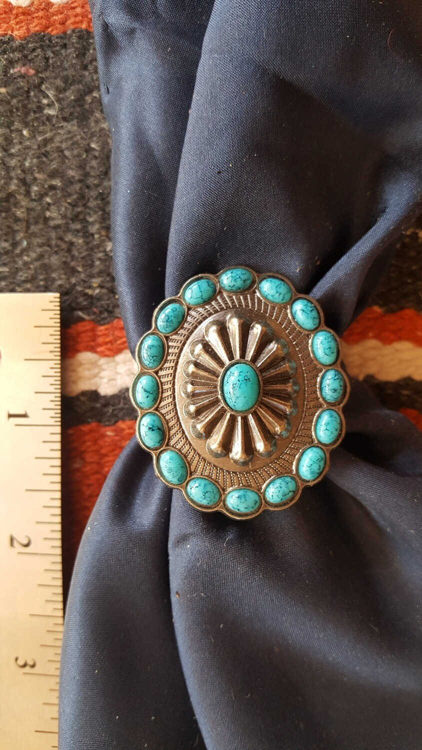 """Faux """"Turquoise"""" Scarf Slide"""
