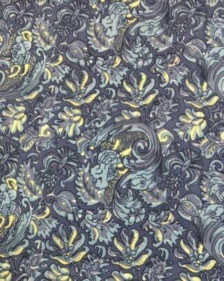#8 Blue Calico Silk Scarf