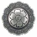 1-1/2 Inch Diameter Scallop Edge Floral Concho