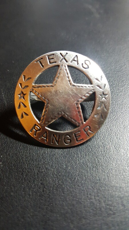 Engraved Sterling Silver Texas Ranger Star Scarf Slide