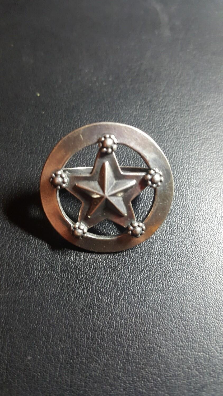 Engraved Sterling Silver Star Scarf Slide