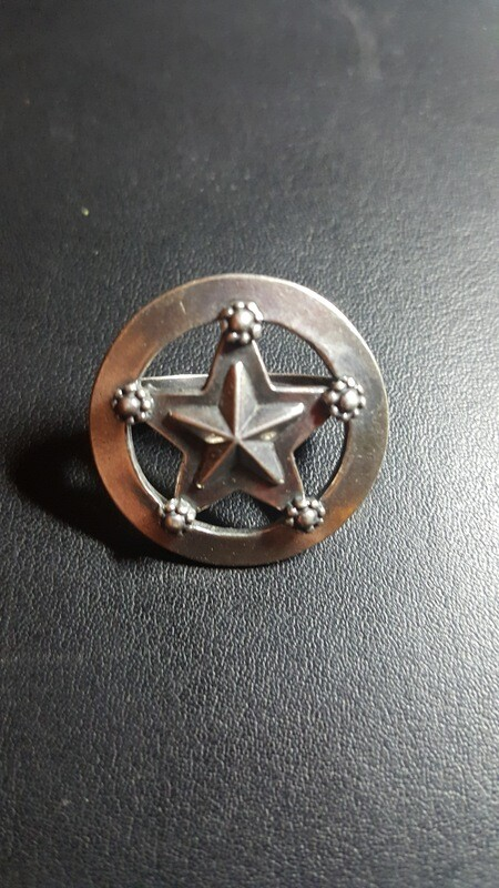 Engraved Sterling Silver Star Scarf Slide