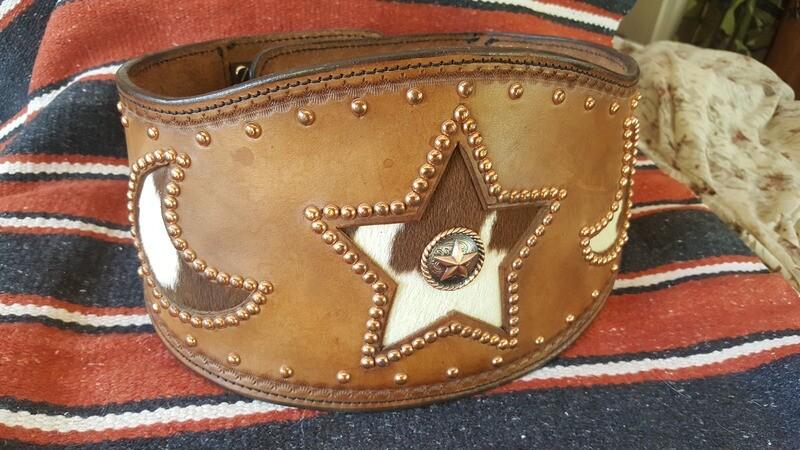 Ladies' Leather Bronco Buster Belt