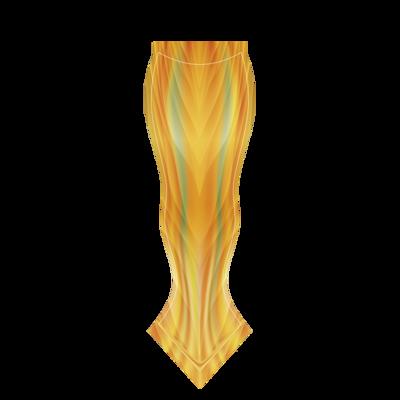 金色光芒; 美人魚尾身體