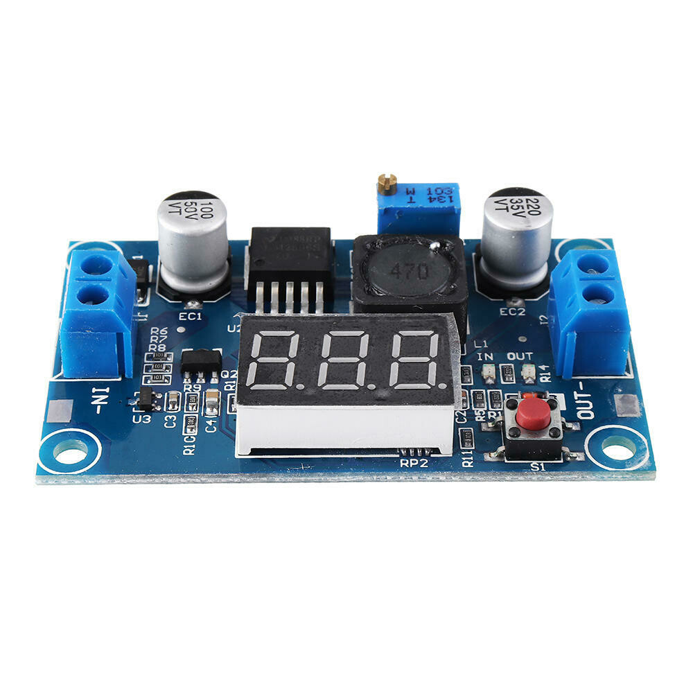 3A Step Down Converter Module with Display for Arduino