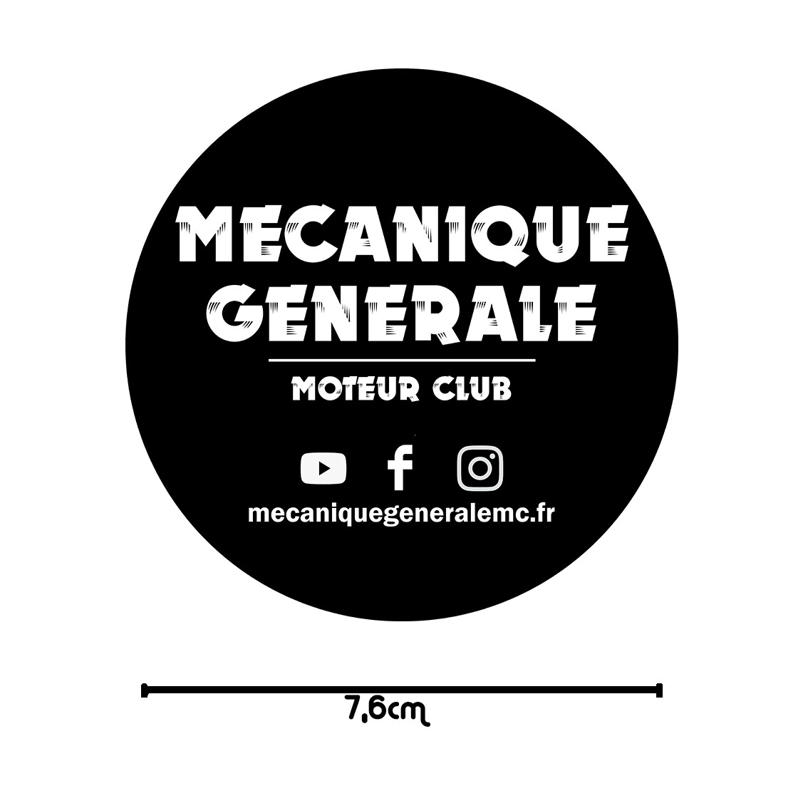 Sticker MGMC 7,6cm