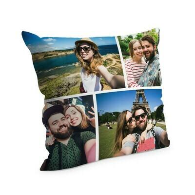 Cuscino con foto 38x38 cm Full Collage 4 Foto Edge