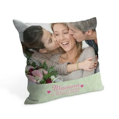 Cuscino con foto 38x38 cm Full Cuore di Mamma