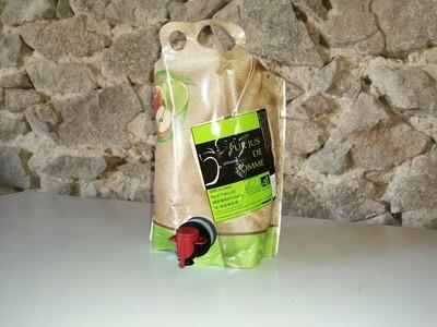 xx Jus de pomme, (poche de 3 litres)