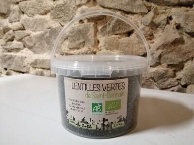 xx Lentilles verte, (le sceau de 2.5kg)