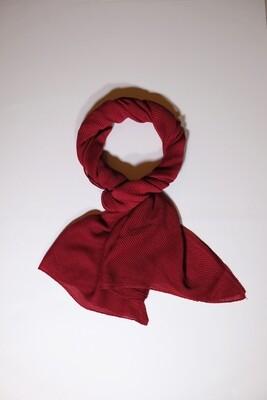 Chimera Dark Red Pleated Scarf