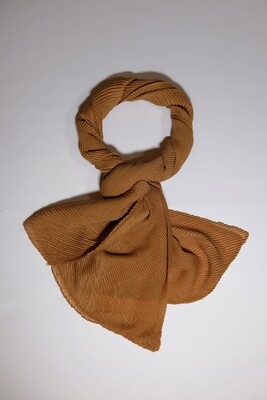 Elements Golden Brown Pleated Scarf