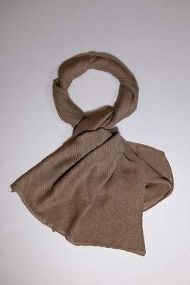 Perspective Brown Pleated Scarf