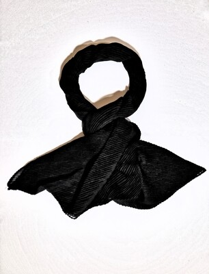 Arden Black Pleated Scarf