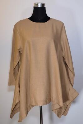 Cotton Linen Asymmetric Top