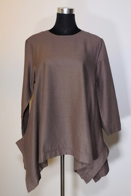 Cotton Linen Asymmetric Top