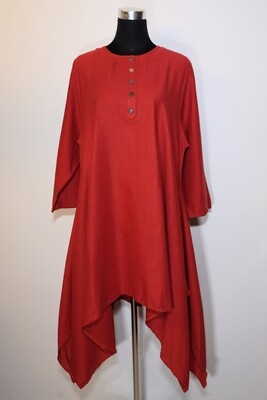 Cotton Linen Asymmetric Tunic
