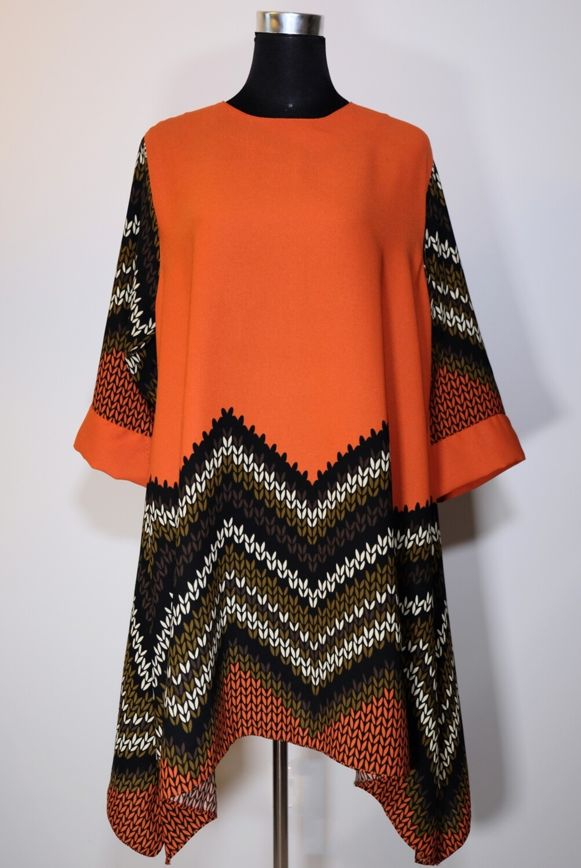 Pattern Asymmetric Tunic