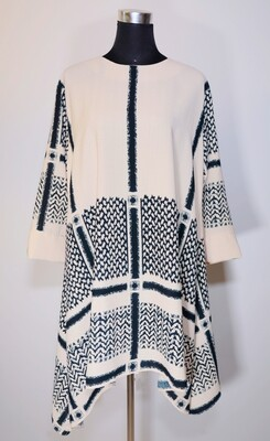 Pattern Asymmetric Tunic