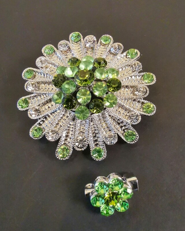 Perception Green Nature Revival Brooch and Pin