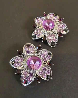 Mindbody Amethyst Flowers Brooch