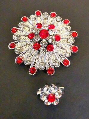 Eminent Red Ruby Brooch and Pin