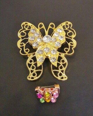Pathfinder Golden Butterfly Brooch and Pin