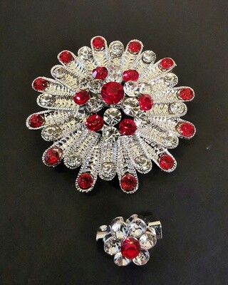 Calypso Red Ruby Brooch and Pin